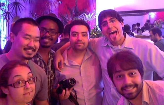 Jornalistas na coletiva da Intel